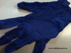 перчатки смотровые нитриловые цвет фиолетовый